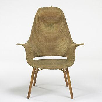 Charles Eames and Eero Saarinen | Organic Design High back armchair