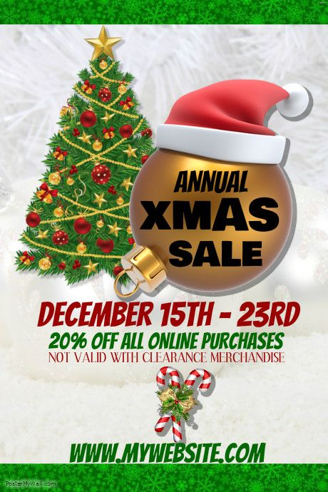 customize this poster template with your photos and text christmas decorations clearance online - Christmas Decorations Sale Online