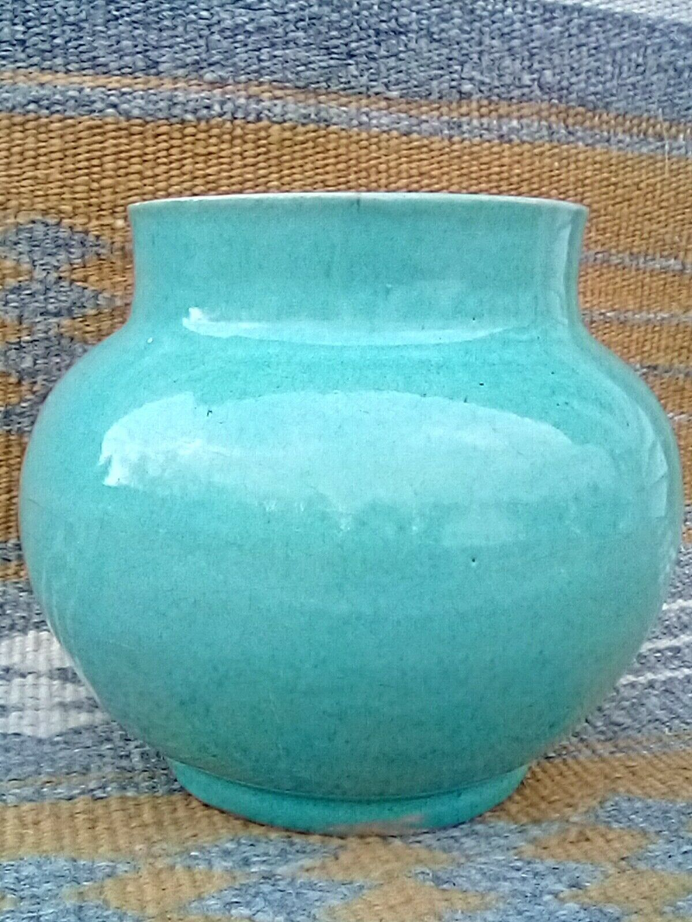 Hand Thrown and Formed Stoneware Blue Cobalt Art Pottery Vase with Faces