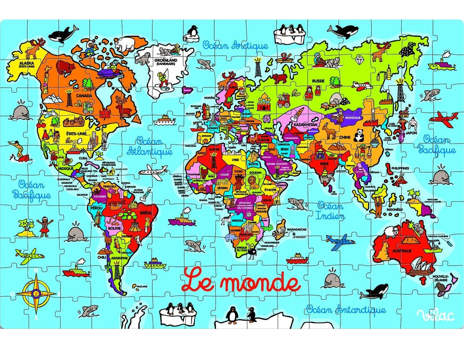 Pin By Parlefr On Cartes Amp Plans World Puzzles For Kids
