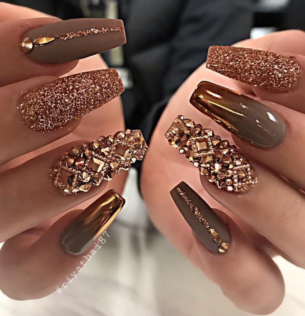 Las Amo Mucho Classy Nail Designs Coffin Nails Designs Glam Nails