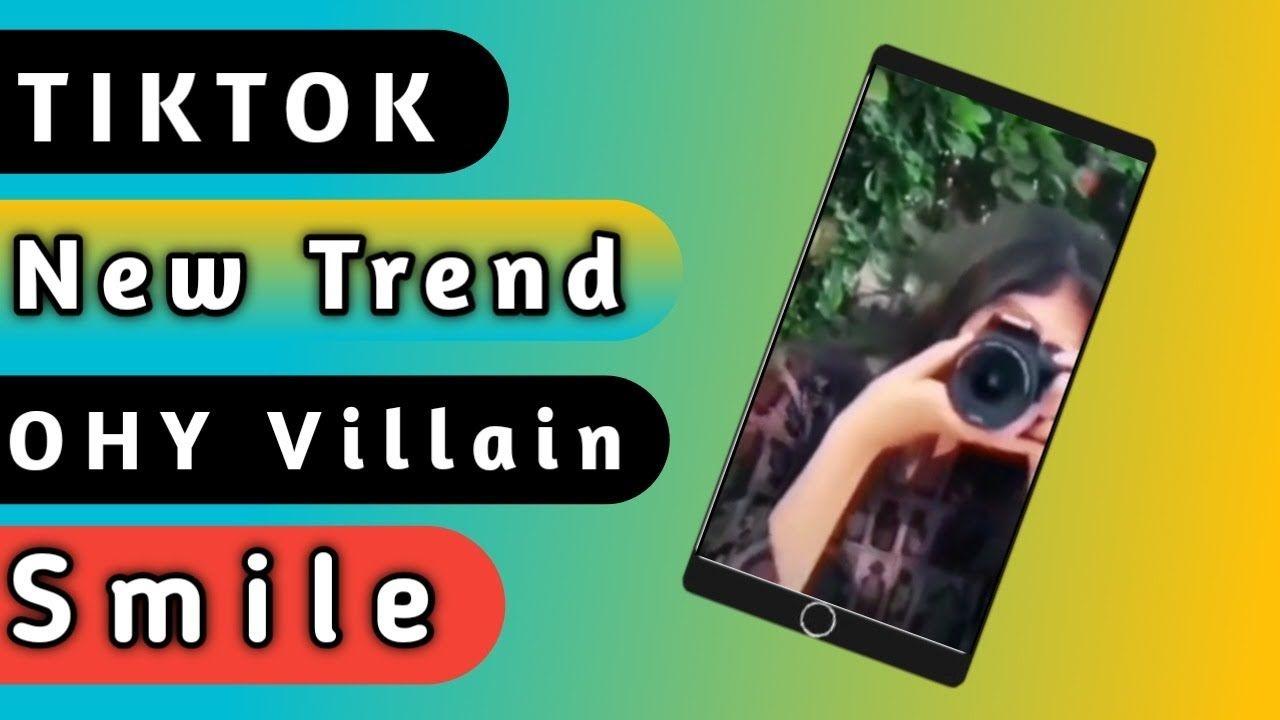 Tiktok New Trend A Villain Smile Tutorial 2020 Tiktok Trending Tik Smile Photo New Trends Villain