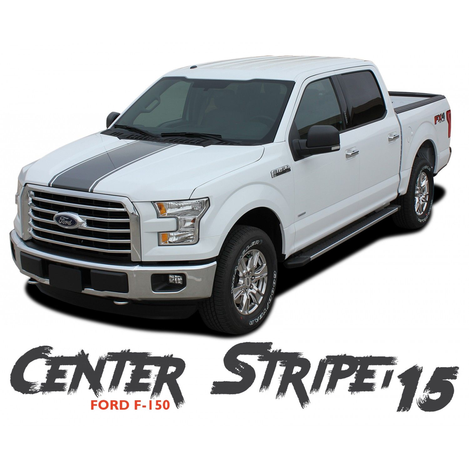 Ford f 150 center stripe 15 center hood tailgate racing stripes vinyl graphics decals kit
