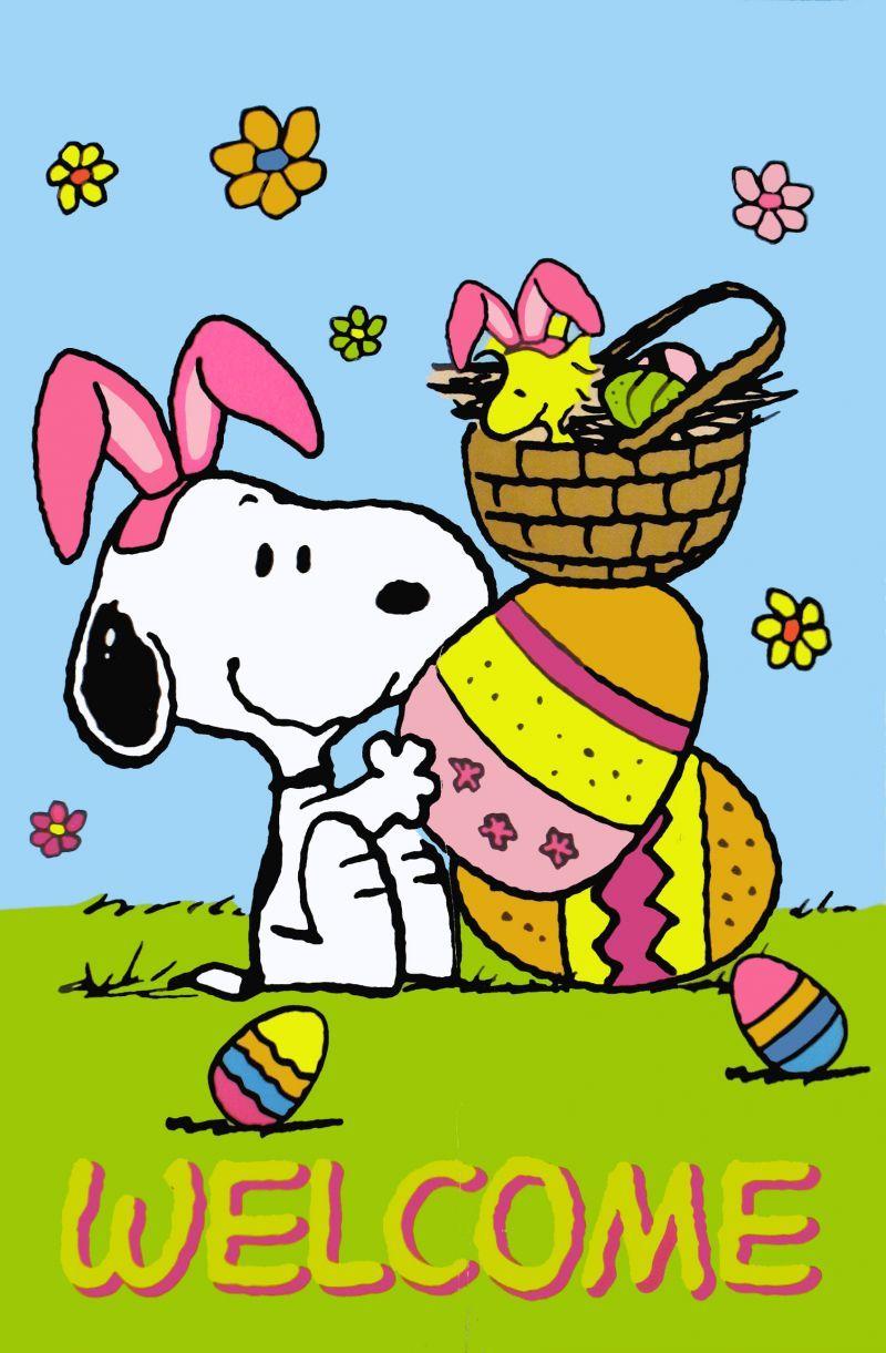 SNOOPY~~~•͡ ̨͡ ₎᷄ᵌ Snoopy Easter | Snoopy easter, Snoopy ...