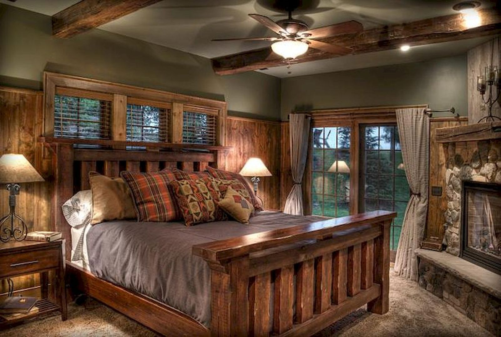 Beautiful And Cool Warm Decorating Ideas Rustic Master
