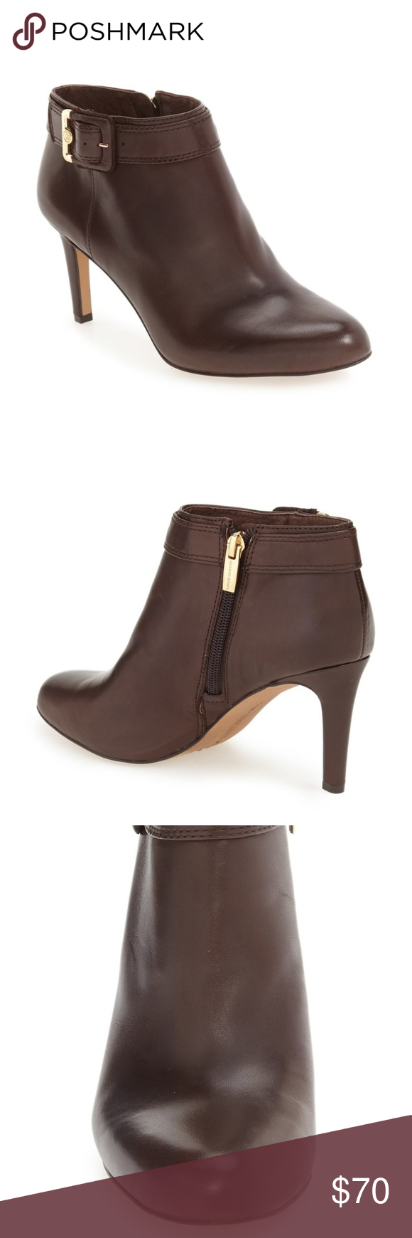 6c1bf9fe420 Vince Camuto Chrissa Brown Booties 5.5 In great condition