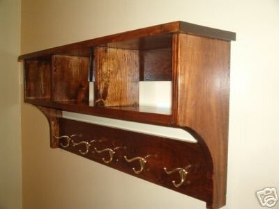 Coat Rack And Storage Shelf | DIY Dunce