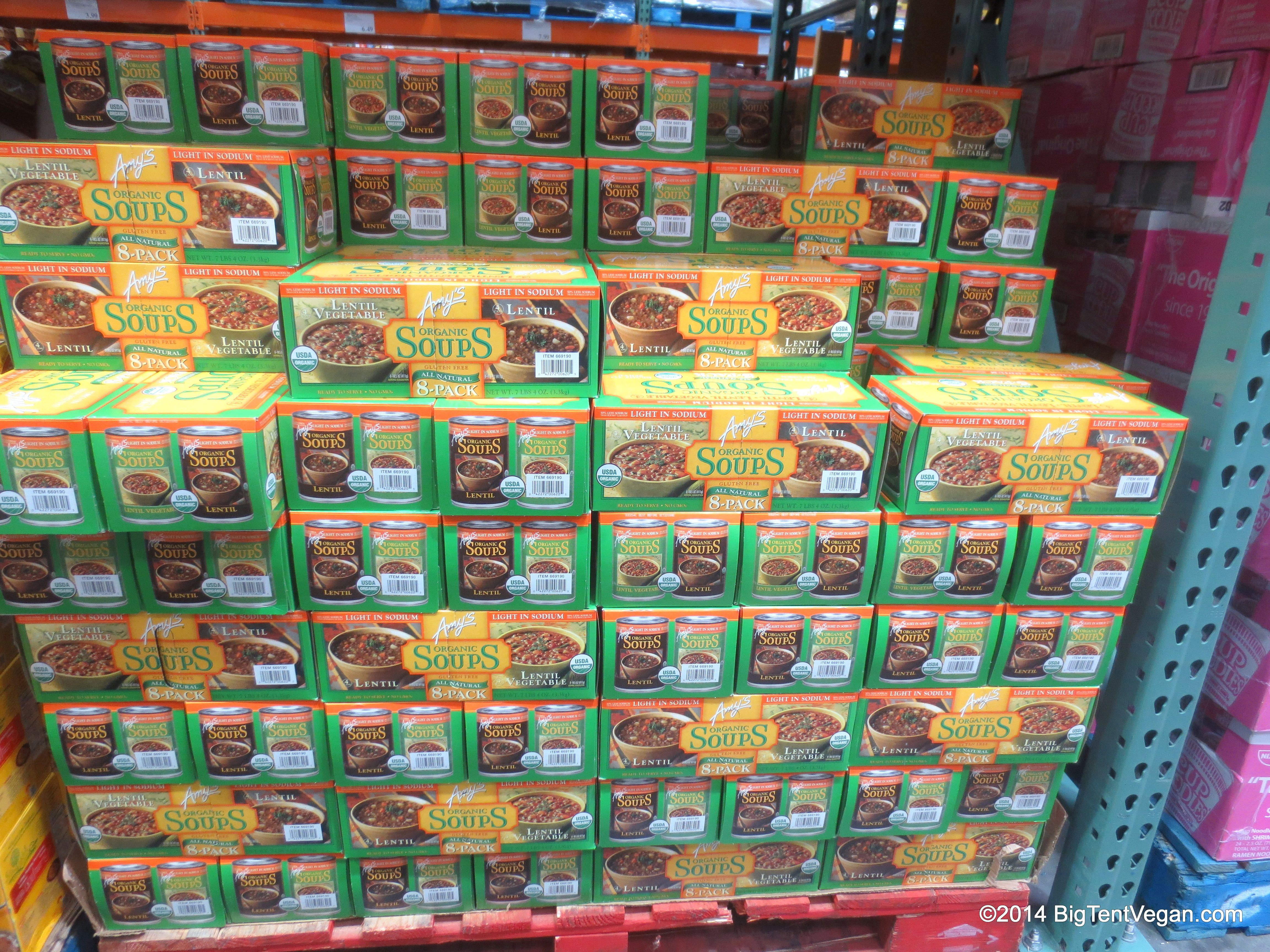 Amys Organic Soups In Lentil Vegetable And Lentil Costco