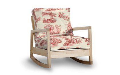 Saustark Design bezug für ikea lillberg sessel schaukelstuhl in toile rot