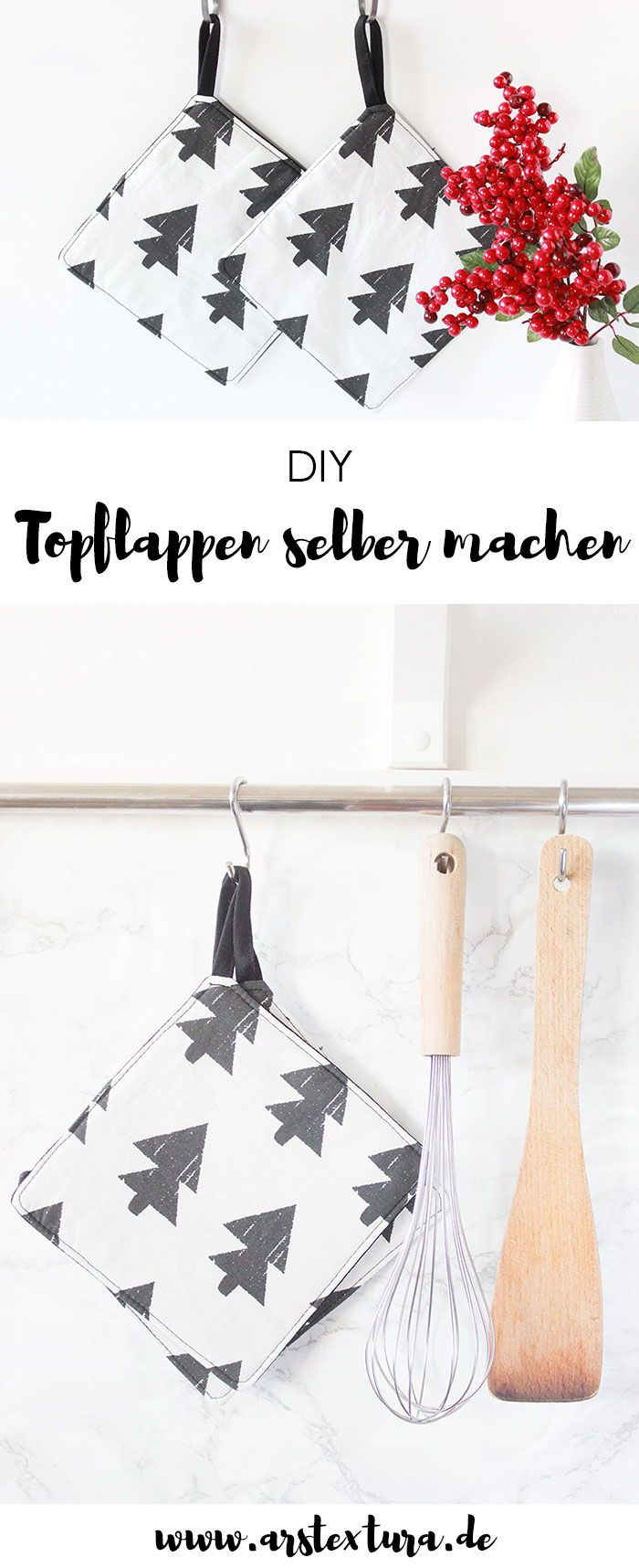 Photo of * 7 * Anfängerfreundliche DIY Topflappen | ars textura – DIY-Blog