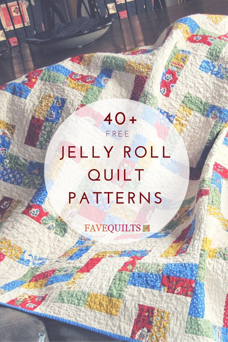 45 Free Jelly Roll Quilt Patterns #jellyrollquilts