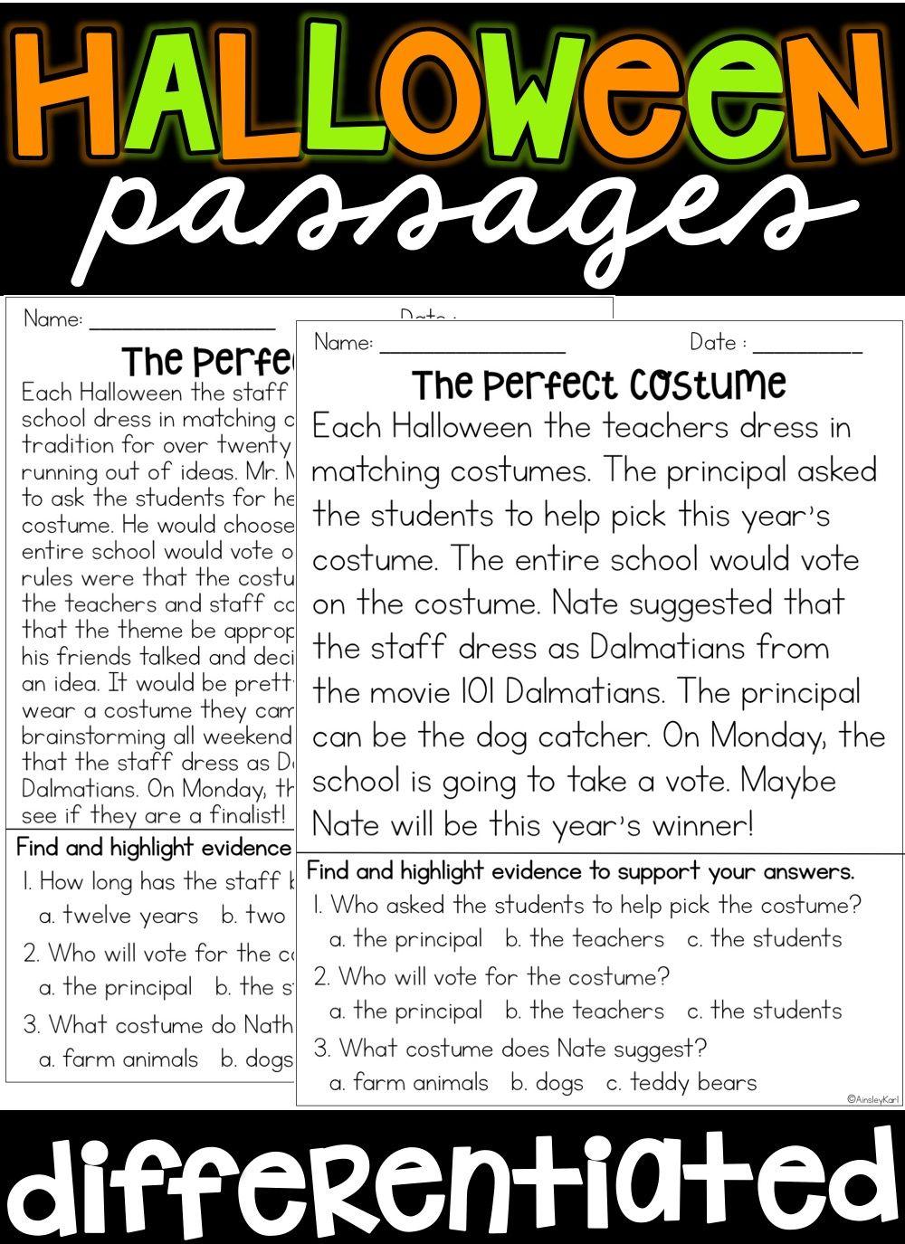 Pin By Ainsley Karl On Halloween Halloween Reading Passages Reading Passages Halloween Reading [ 1375 x 1000 Pixel ]