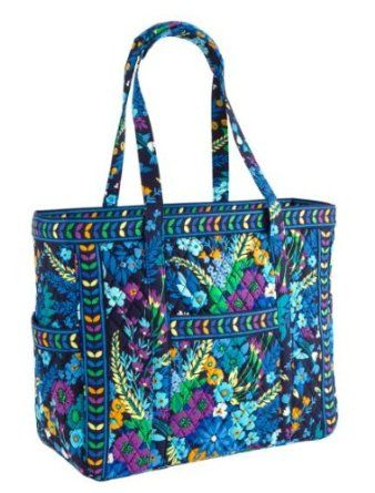 753e9a53a3a9 Amazon.com  Vera Bradley Get Carried Away Tote in Ribbons  Clothing ...