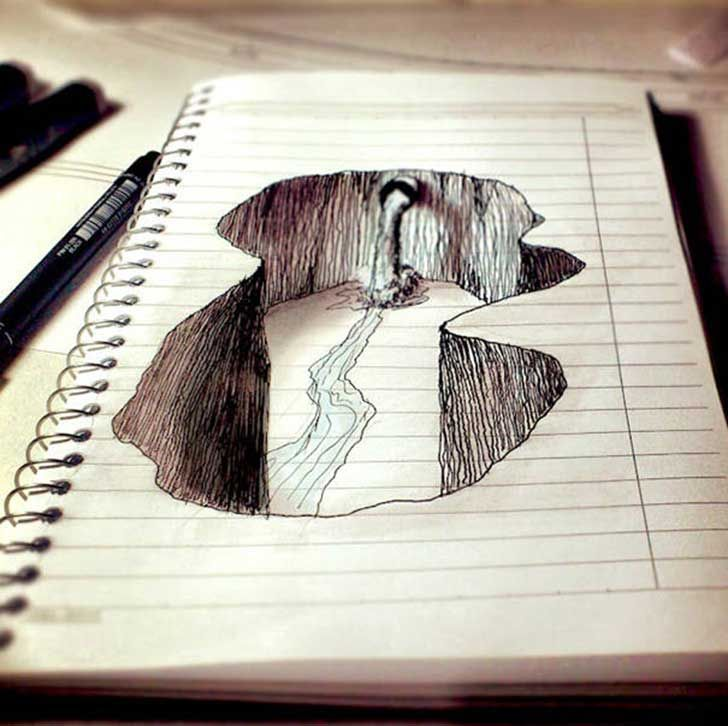 9 Increibles Dibujos De Artistas Que No Ven Las Lineas Como Un Obstaculo Cuadernos De Bocetos Mejor Dibujo Dibujos Artisticos