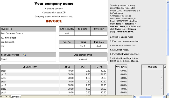 Image Result For Invoice Sample India  Org Profile