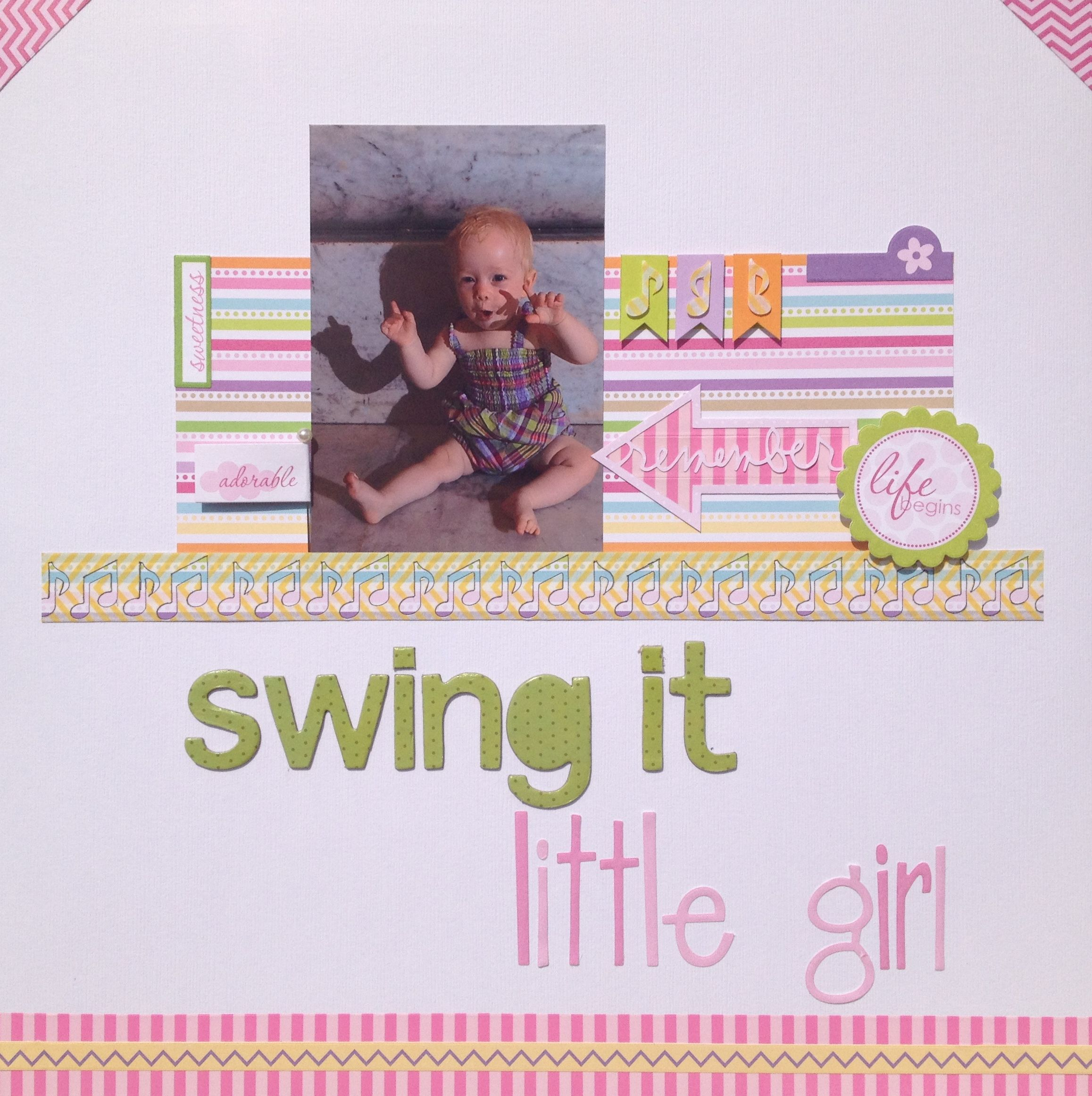 Swing it little girl - Scrapbook.com