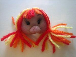 broche muñeca soft naranja, rojo y amarillo