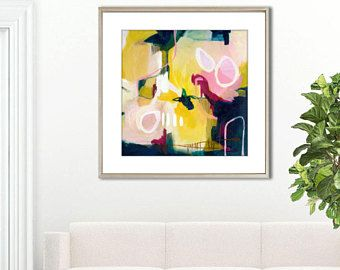 Leinwand Schlafzimmer ~ Large abstract print abstract painting print canvas abstract