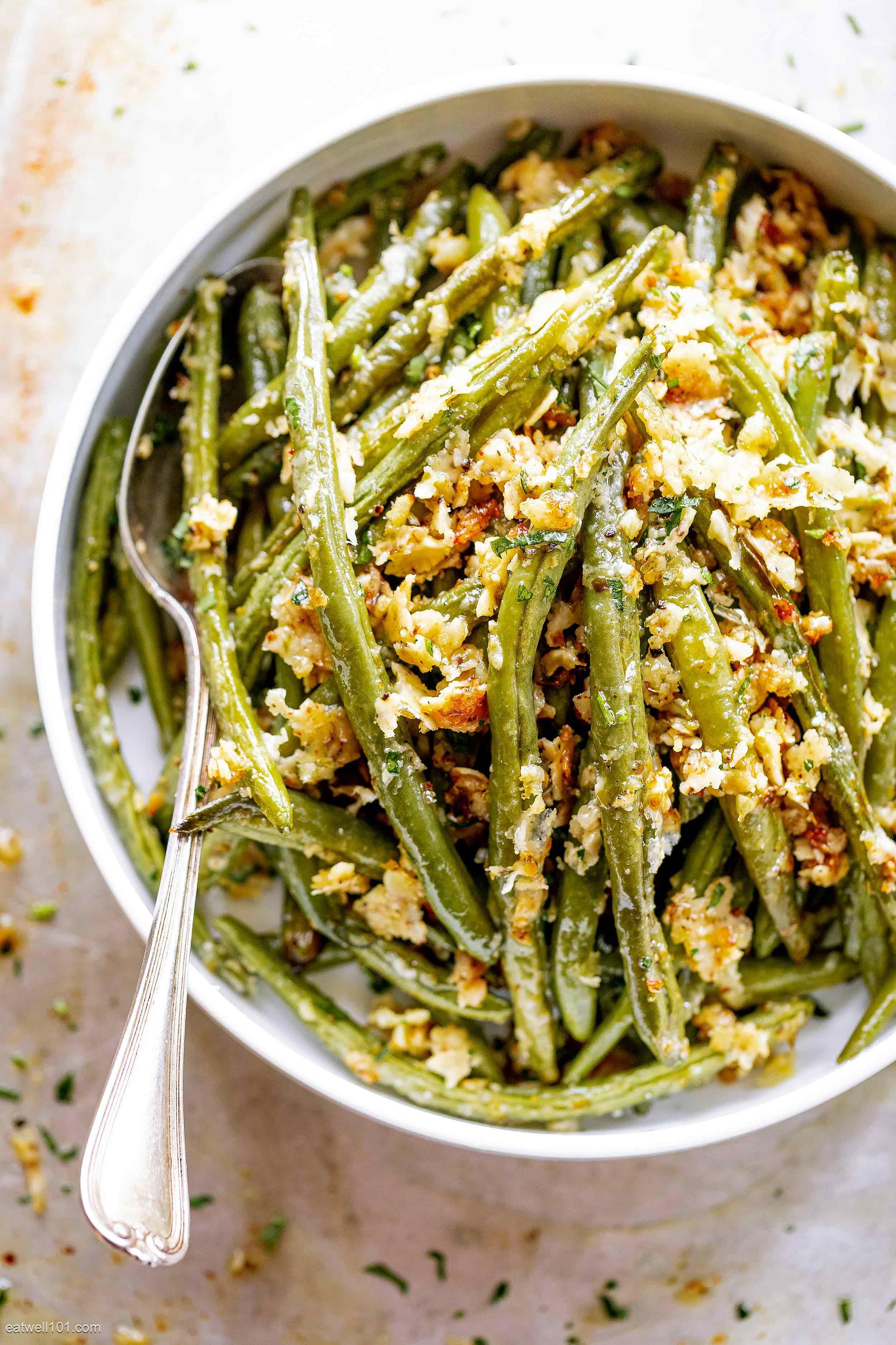 Roasted Garlic Parmesan Green Beans #greenbean