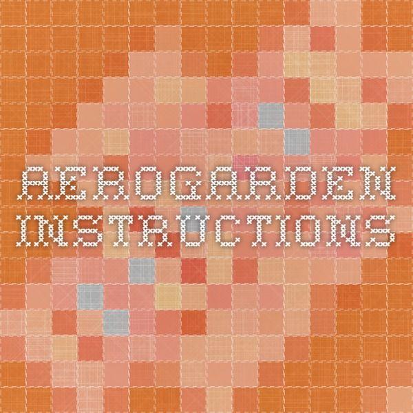 Aerogarden Instructions Home Depot 400 x 300