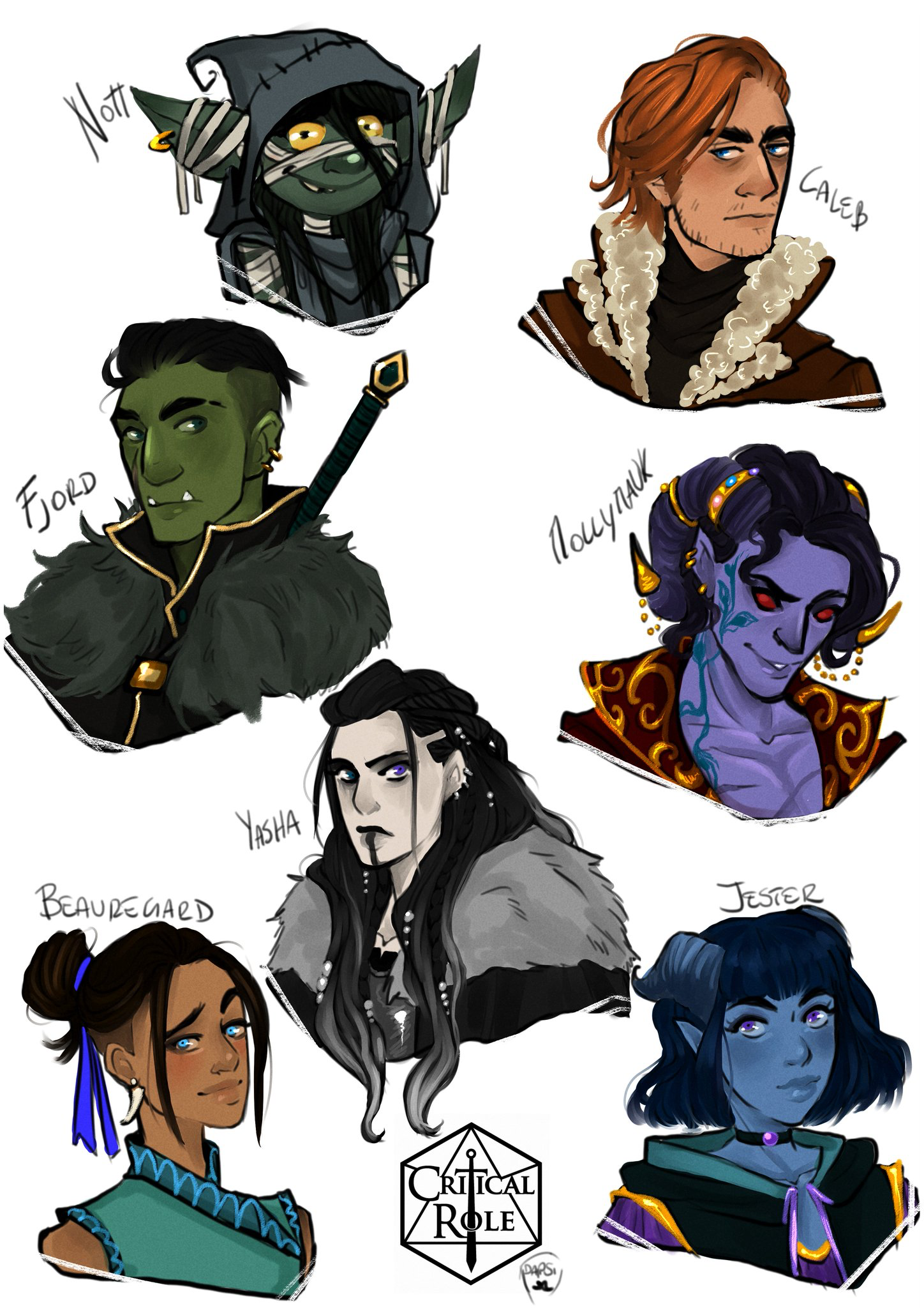 16 Criticalrolefanart Hashtag On Twitter: Pin By Charles Farrell On Critical Role