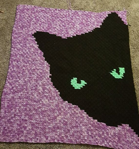 CAT EYES C2C Graph afghan pattern with written row by row ...