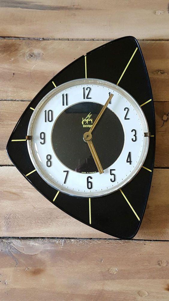 pendule formica japy formidable formica pinterest pendule horloge et pendule ancienne. Black Bedroom Furniture Sets. Home Design Ideas