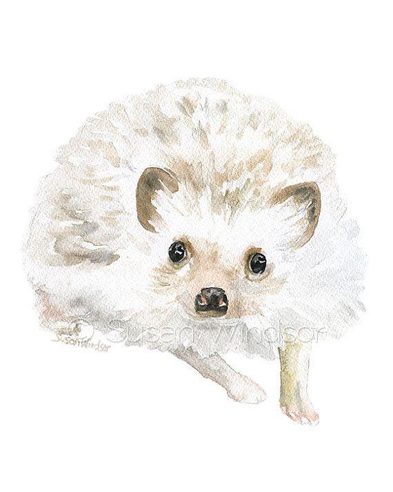Woodland Watercolor Animal Art Prints Nursery Childrens Room Set of ...