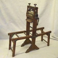 Rare Antique Wooden Salesman Sample Miniature Folding Wash Stand Wringer Vintage Laundry Steel Art Antiques
