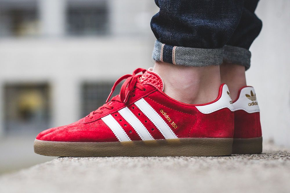 c958d84e780 Scarlet Red Adidas Originals 350 Men s Sneaker Casual Shoes Trainers SIZE 8  UK  adidas  Trainers