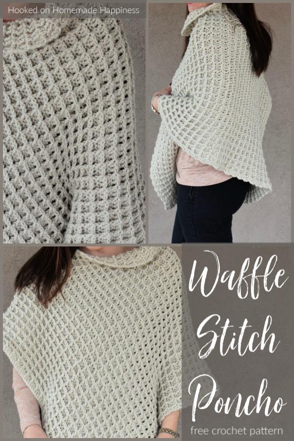 Waffle Stitch Poncho Crochet Pattern