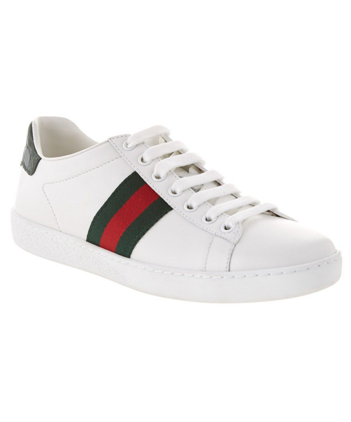 b983a04ba GUCCI GUCCI ACE LEATHER LOW TOP SNEAKER. #gucci #shoes #shoes ...