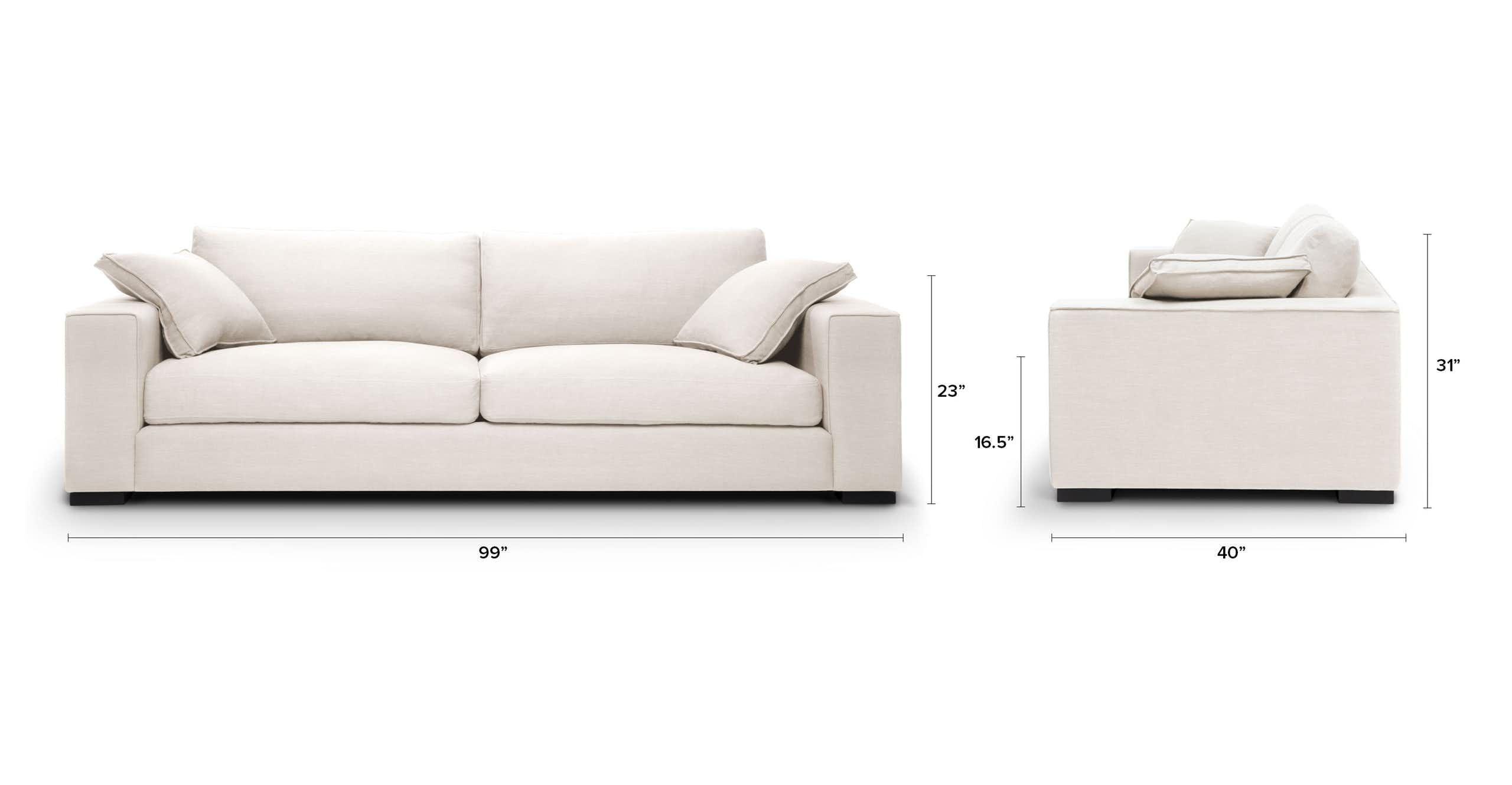 Sitka Quartz White Sofa White Sofas Sofa Mid Century Modern Sofa