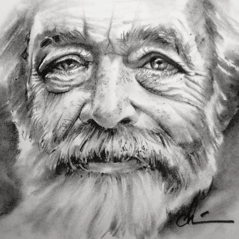 Pencil Sketch Old Man With Images Sketches Pencil Drawings Of
