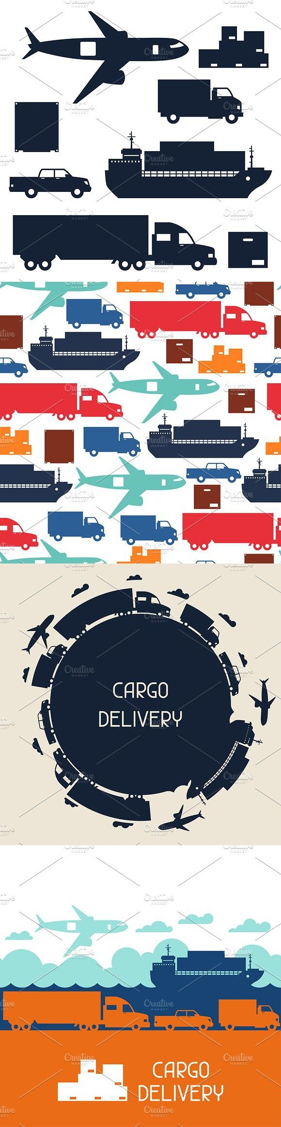 Freight Cargo Transport Cargo Transport Transportation Container Design