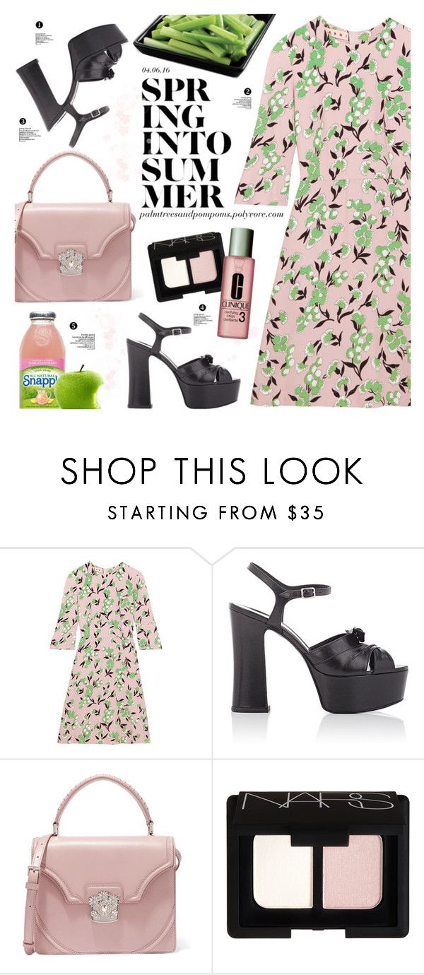 """04.06.16"" by palmtreesandpompoms ❤ liked on Polyvore featuring Marni, Yves Saint Laurent, Alexander McQueen, NARS Cosmetics and Clinique"