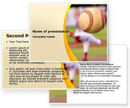 Download Baseball Pitcher Throw Powerpoint Template And Background
