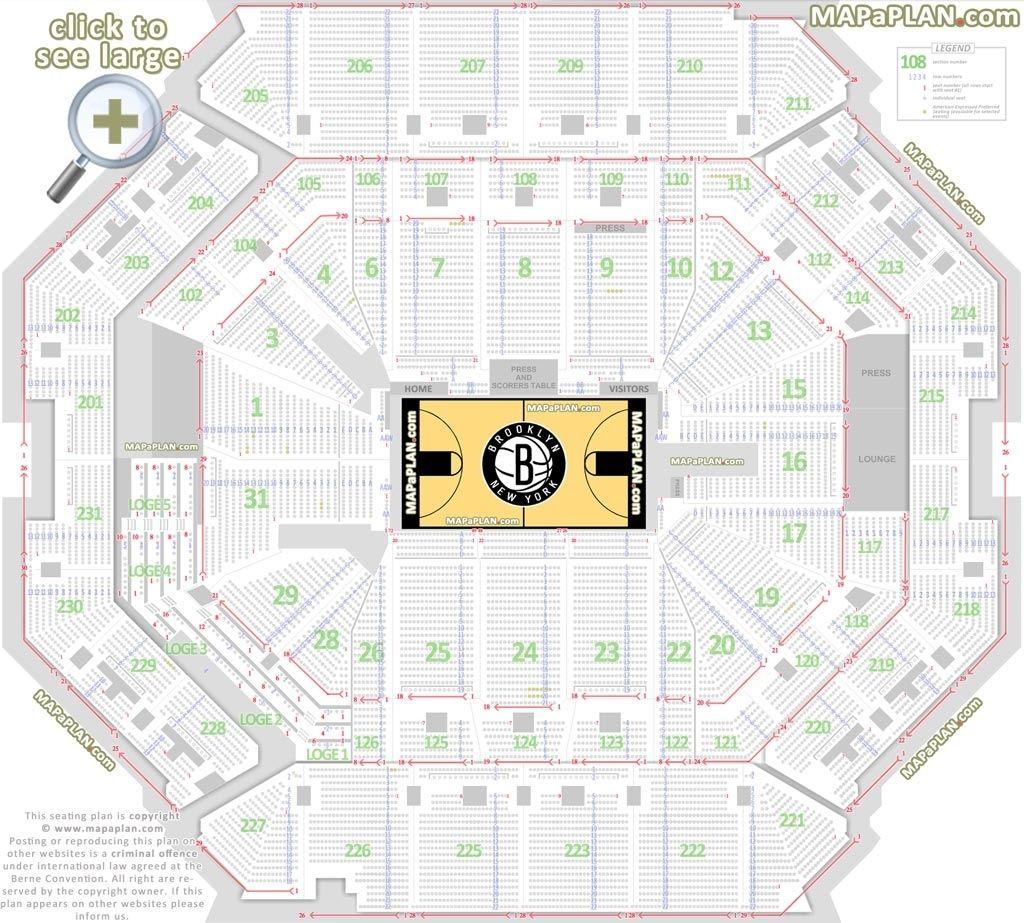 Barclays Center 3d Seating Chart Di 2020