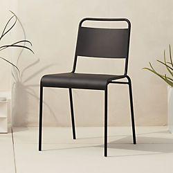 Lucinda Black Stacking Chair Sale 59 95 Black Metal Dining