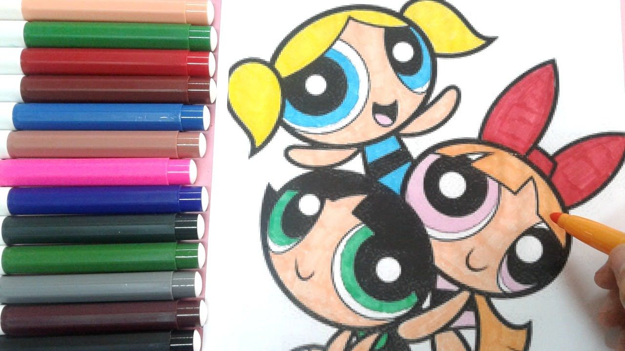 The Powerpuff Girls Coloring Book : How to color the powerpuff girls ...
