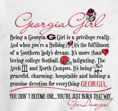 G)EORGIA GIRL | GEORGIA BULLDOGS | Georgia bulldogs, Georgia
