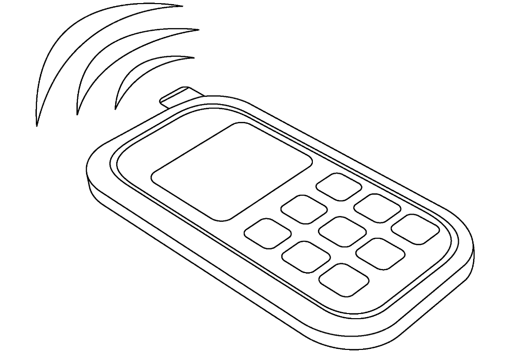 30+ Coloring page of a cell phone download HD