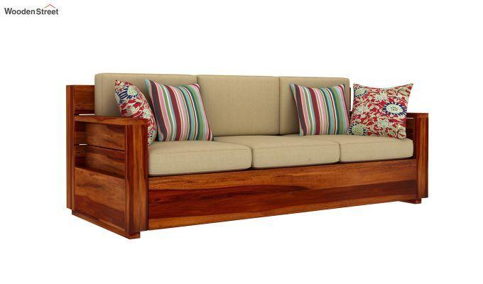 Buy Marriott Wooden Sofa Set (Honey Finish) Online in ...