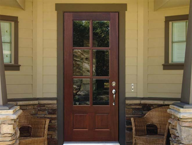 Love The Everything About This Door. 3/4 Glass  Framed Door Front And