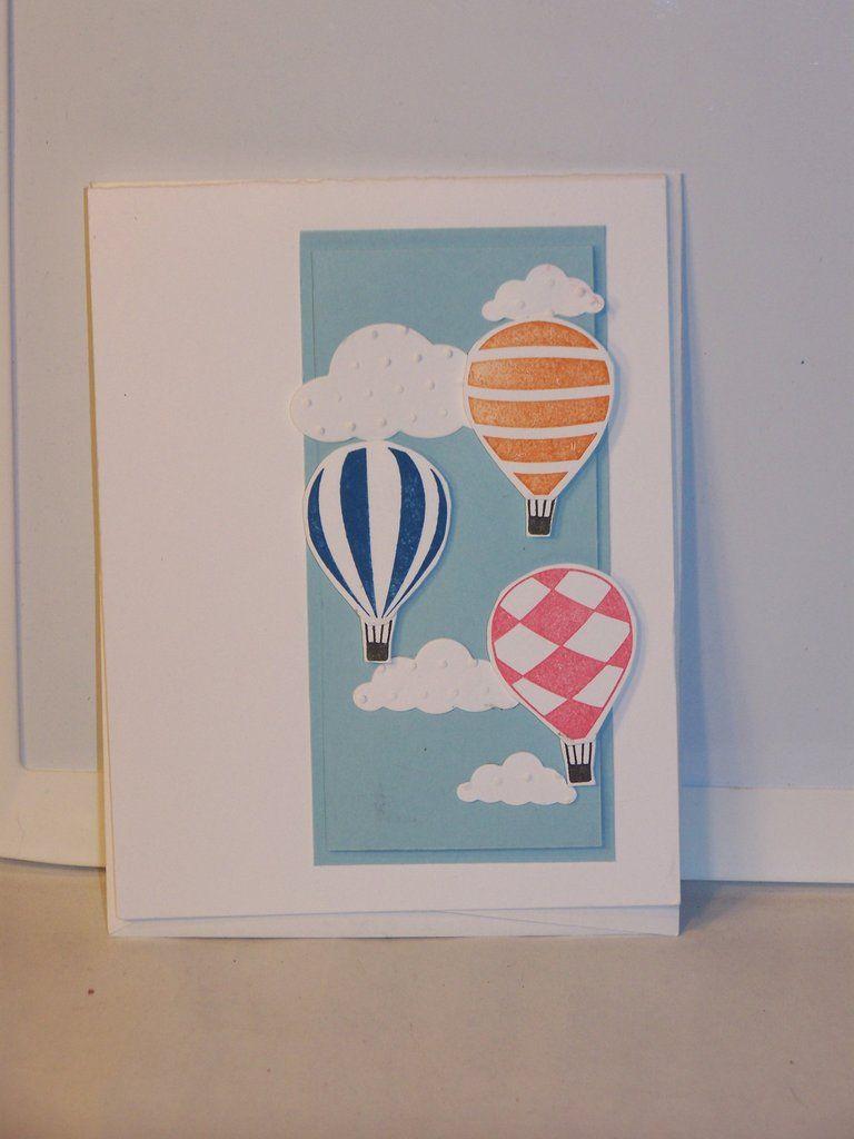 Blank Card Hot Air Balloon