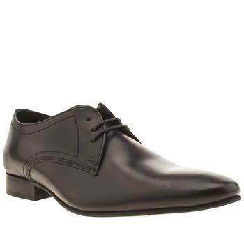 Mens Ikon Leather Black Black Turin 3 Eye Shoes