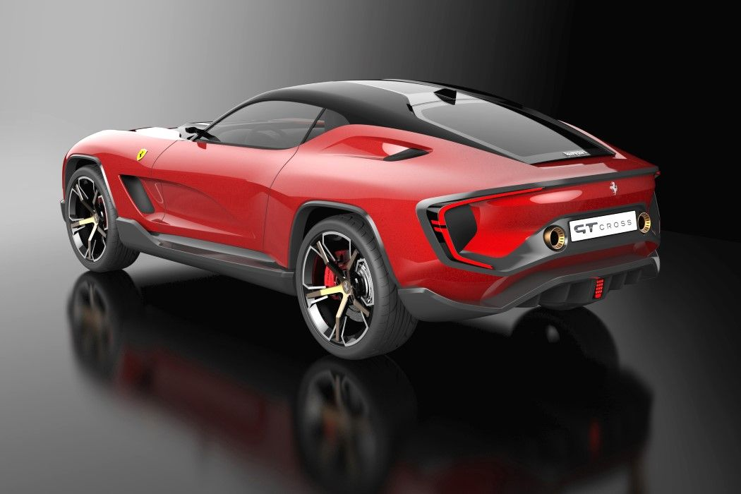 The Ferrari Gt Cross Concept Integrates The Company S Racing Dna With Suv Design In 2020 Ferrari Suv Racing