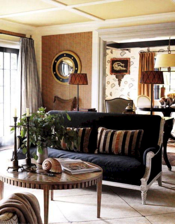 Breathtaking 45+ Best Beautiful Navy & Brown Living Room ...
