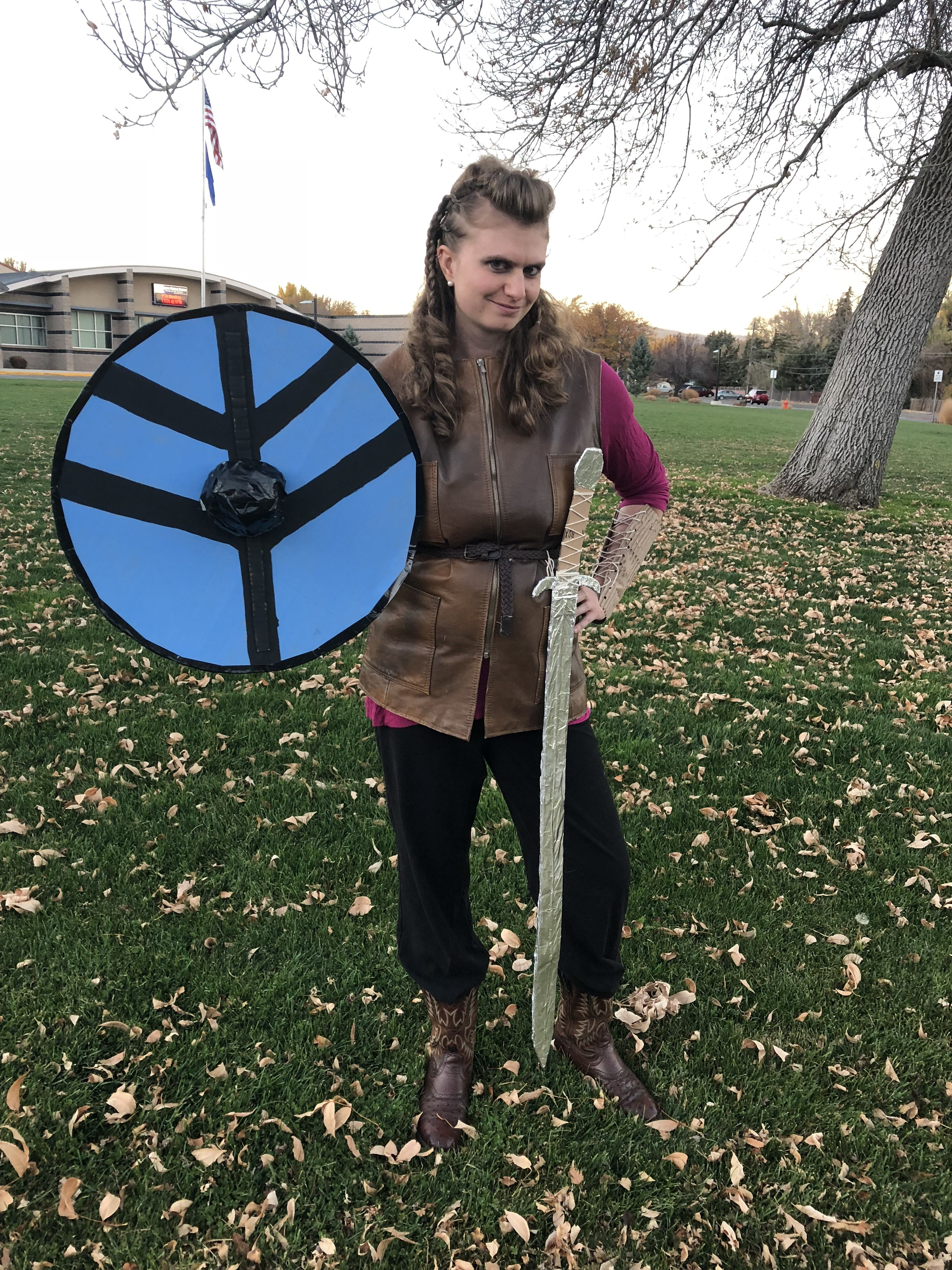 lagertha from history channel's vikings as a halloween costume