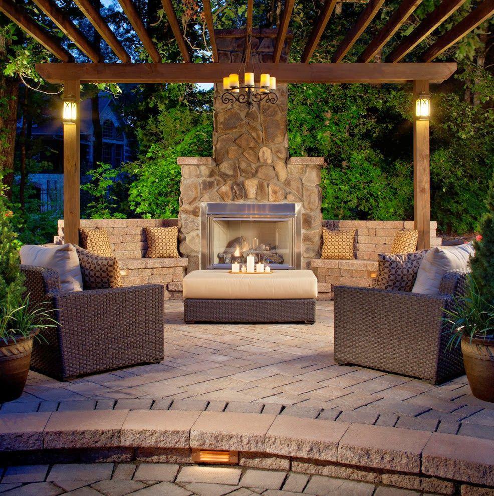 House ideas open concept cocina sala comedor jardiner a - Techados de terrazas ...